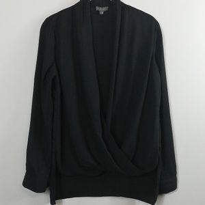 Vince Camuto Black Draped Blouse